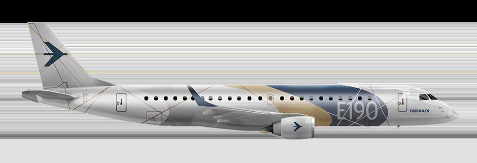 Embraer Jet Right Aspect E190 Left 1
